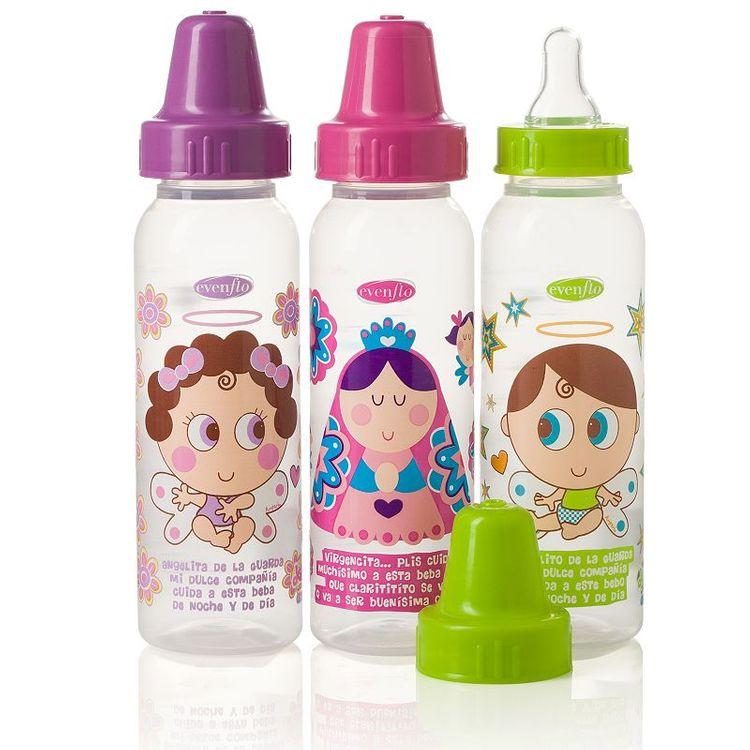 Evenflo Feeding 3-pk. Distroller 8-oz. Baby Bottles (Pink/Purple)