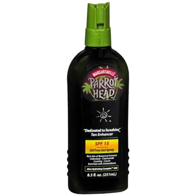 "Margaritaville Parrot Head ""Dedicated to Sunshine"" Natural Tan Enhancer, SPF 15, 8.5 fl oz"