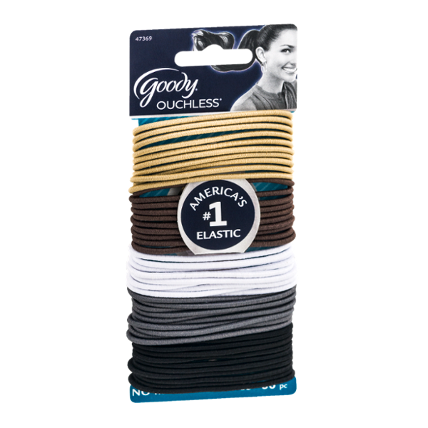 Goody Ouchless No Metal Elastics - 50 CT