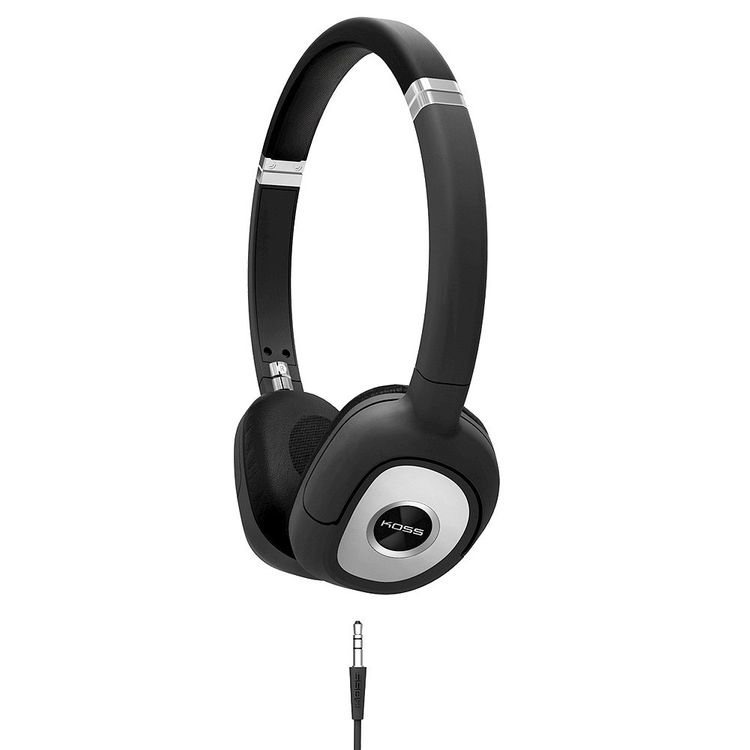 Koss SP330 Over-the-Ear Dynamic Headphones Black with Silver Accents - Black SRSSP330