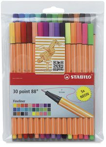 Stabilo Point 88 Fineliner Pen Sets