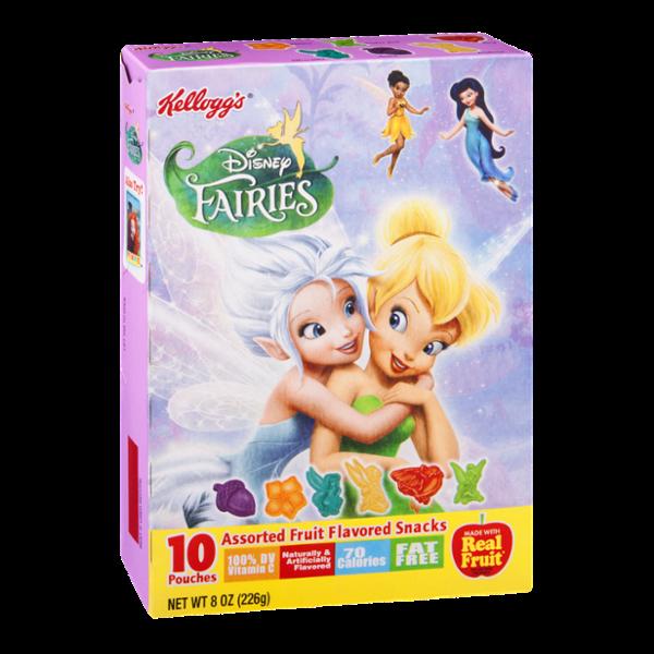 Kellogg's Disney Fairies Assorted Fruit Flavored Snacks - 10 CT