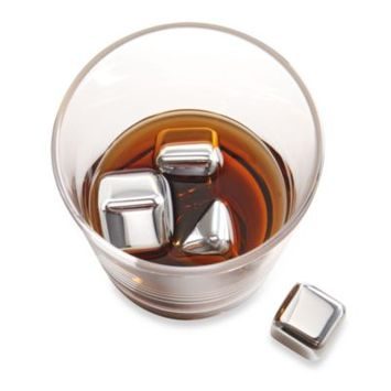 Brookstone® n'ICE Cubes™ Stainless Steel Drink Chillers - Set of 6