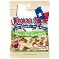 Texas Star: Sliced Natural Almonds, 2 Oz