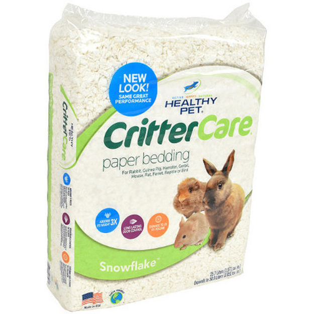 Critter Care Snowflake Bedding for Small Animals, 50L