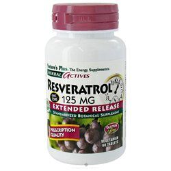 Nature's Plus - Herbal Actives Extended Release Resveratrol 125 mg. - 60 Vegetarian Tablets