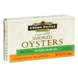 Crown Prince Natural - Smoked Oysters in Pure Olive Oil - 3 oz.