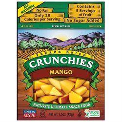 Crunchies Freeze Dried Snack Food, Mango, 1.5 oz