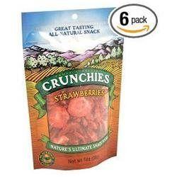 Crunchies Freeze Dried Snack Food Strawberries - 1 oz