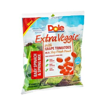 Dole Extra Veggie Baby Spinach & Spring Mix