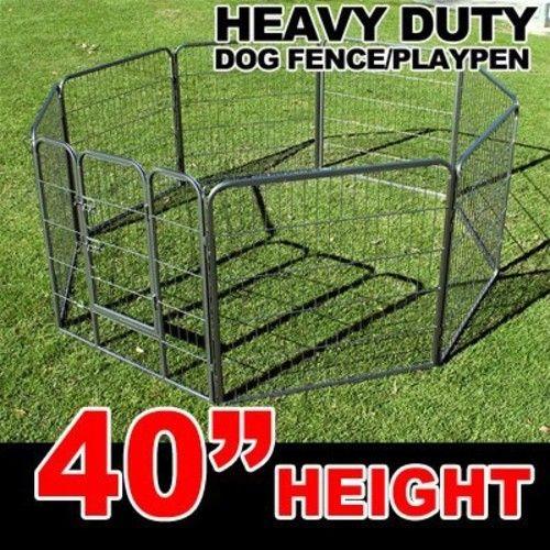 """MTN Gearsmith 40"""" Heavy Duty Dog Indoor/Outdoor Deluxe Metal Fence/ Exercise Pan Playpen"""
