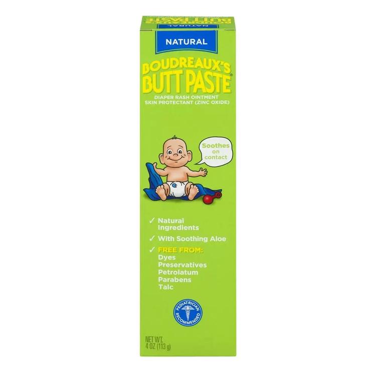 Boudreaux's Butt Paste with Natural Aloe Diaper Rash Ointment, 4 ounces