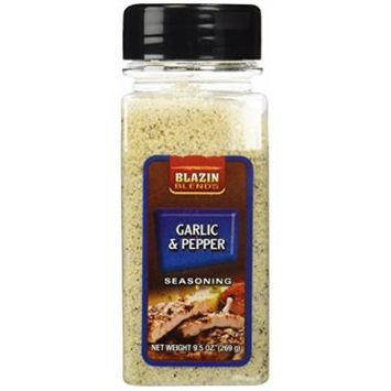 Garlic & Pepper Seasoning - 9.5 oz,(Blazin Blends)