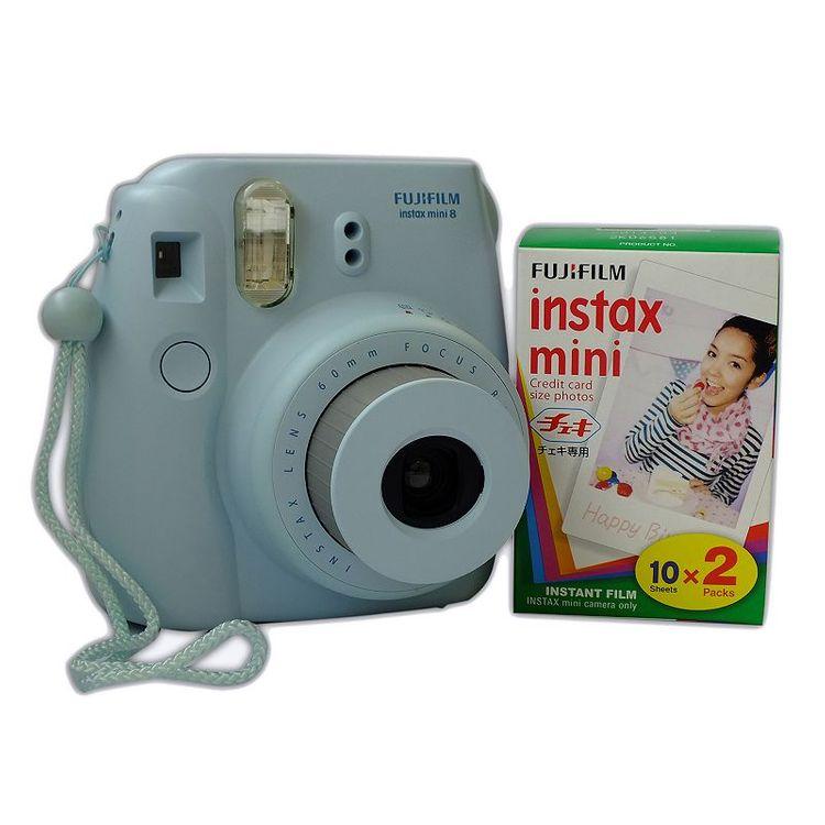 Fujifilm Instax Mini 8 Instant Camera Bundle, Blue