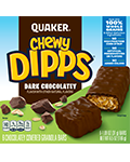 Quaker Chewy Dipps Granola Bars Dark Chocolatey