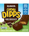Quaker Chewy Dipps Granola Bars Dark Chocolatey
