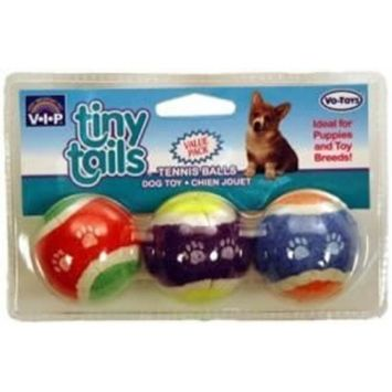 Tennis Balls 1.5 in. Tiny Tails 3 Pack