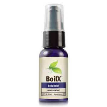 BoilX Natural Boil Treatment - Homeopathic Boil Relief Product Removes Boils on Skin ~ 1 Bottle