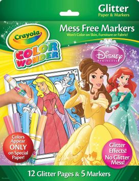 Crayola Color Wonder Glitter Paper & Markers - Princess