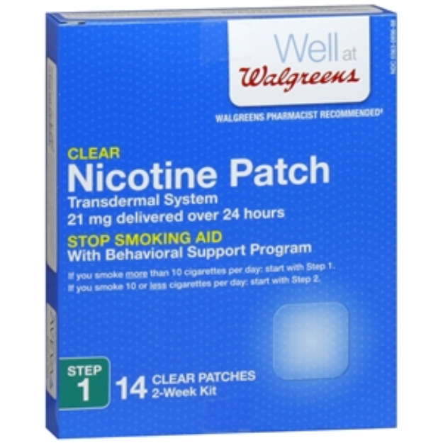 Walgreens Nicotine Patches, Clear, Step 1, 14 ea