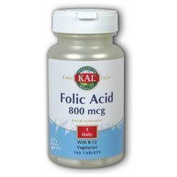 Kal Folic Acid - 800 mcg - 100 Tablets