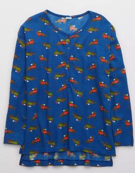 AE Aerie Waffle Long Sleeve Pajama Shirt
