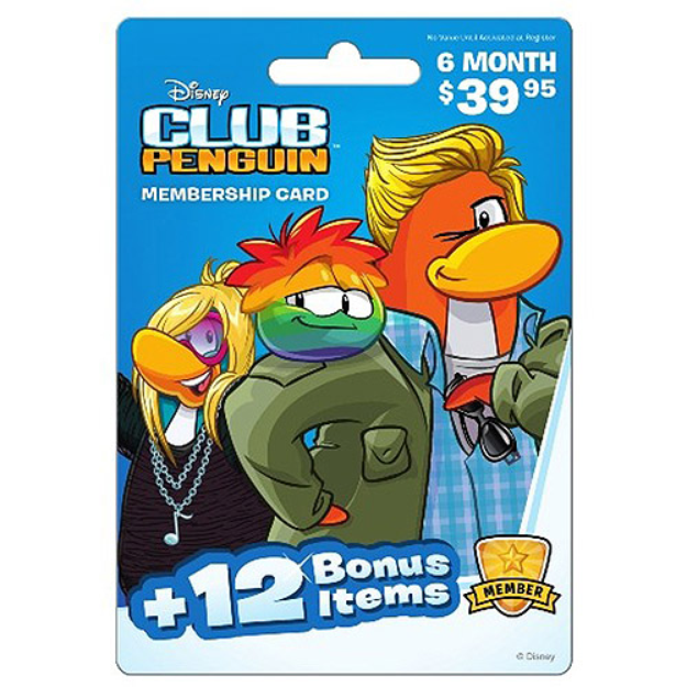 inComm Club Penguin 6 Month $39.95