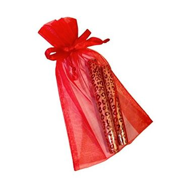 Flamingo 3D Fiber Lashes Mascara, Brush On Eyelash Extensions in 60 Seconds, Wrapped in a Beautiful Red Organza Gift Bag