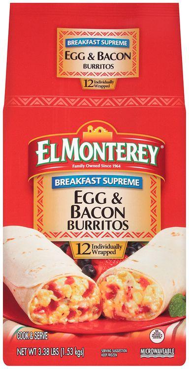 el monterey® breakfast supreme egg & bacon burrito