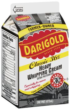 Darigold Ultra-Pasteurized Heavy Classic 36% Whipping Cream 1 Pt Carton