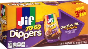 Jif To Go® Chocolate Silk Peanut Butter with Pretzels Dippers