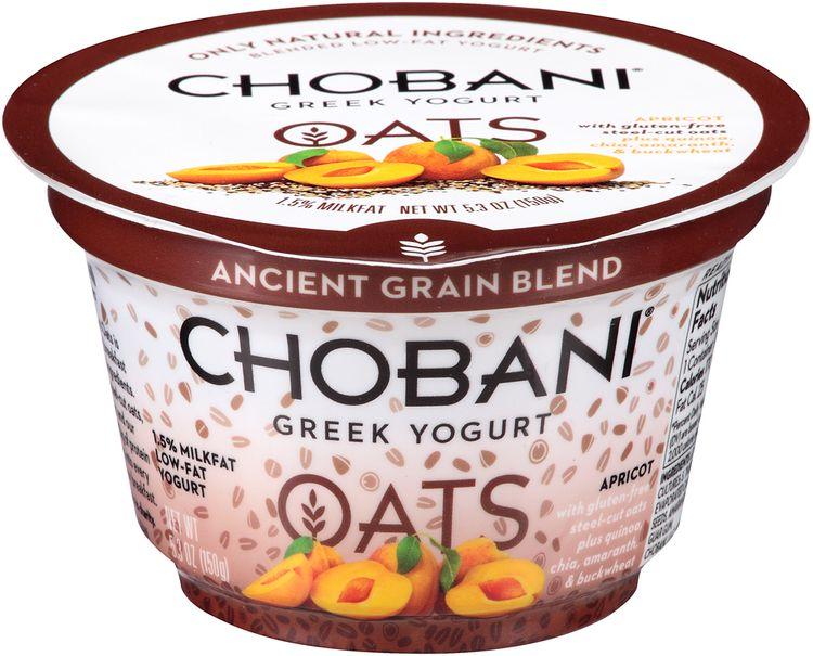 Chobani® Oats Apricot Low-fat Greek Yogurt