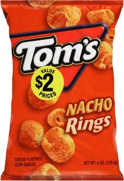 tom's® nacho rings cheese flavored corn snacks