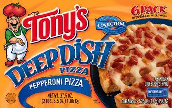 Tony's Deep Dish Pepperoni 6 Pack Pizza