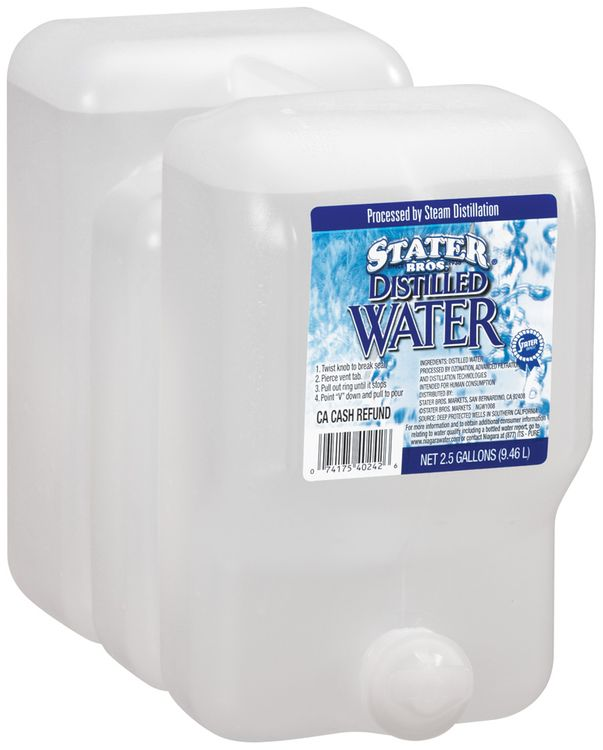 Stater Bros. Distilled Water 2.5 Gal Plastic Jug