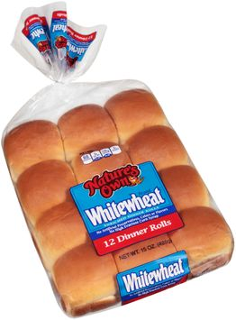 Nature's Own® Whitewheat® Enriched Dinner Rolls 12 ct Bag
