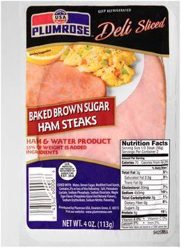 Plumrose® Deli Sliced Baked Brown Sugar Ham Steaks
