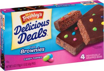 mrs Freshly's® Candy Topped Fudge Brownies