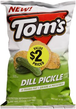tom's® dill pickle potato chips