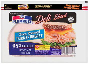 plumrose® deli-sliced oven roasted turkey breast