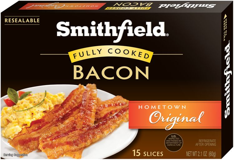 Smithfield® Hometown Original Fully Cooked Bacon