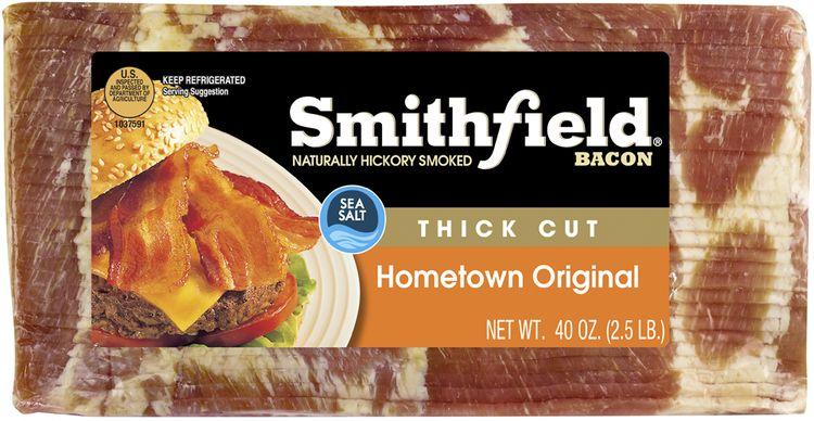Smithfield® Naturally Hickory Smoked Hometown Original Thick Cut Bacon