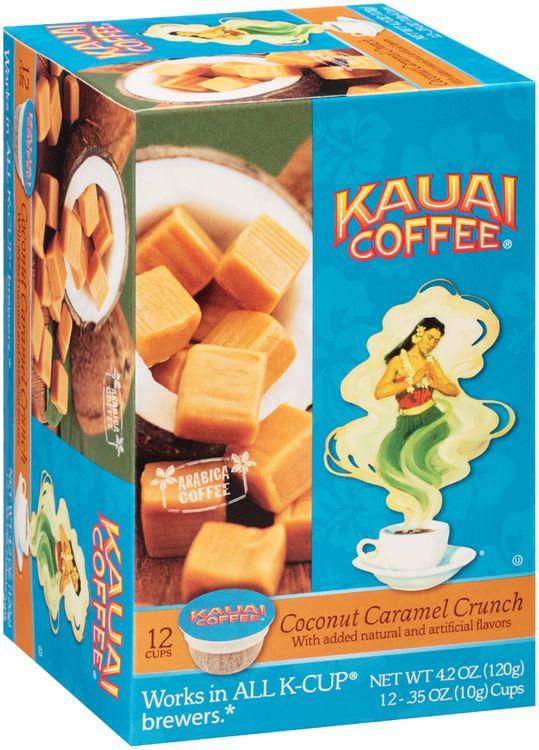 Kauai Coffee® Coconut Caramel Crunch Coffee Single Serve Cups 12 ct Box