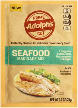 adolph's® prime cut seafood marinade mix