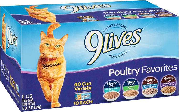 9Lives Poultry Favorites Wet Cat Food Variety Pack