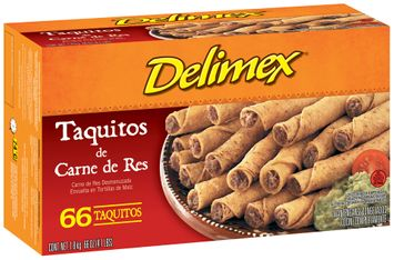 DeliMex® Taquitos de Carne de Res 66 ct Box