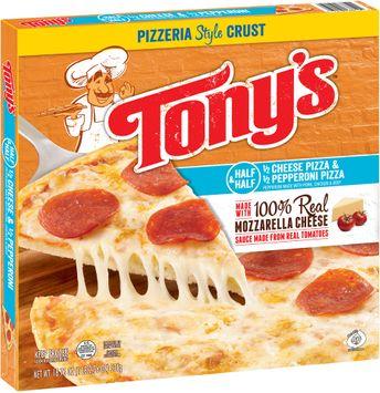 Tony's™ Pizzeria Style Crust Half & Half Cheese/Pepperoni Pizza