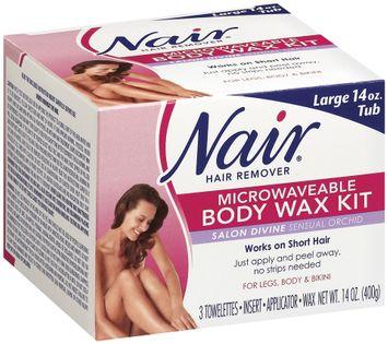 Nair Body Wax Kit Microwaveable Salon Divine Sensual Orchid Hair Remover