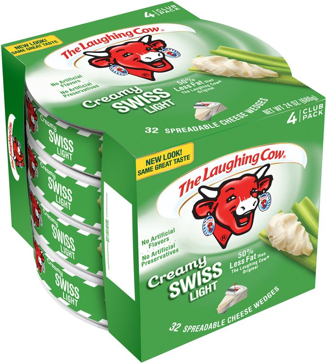 The Laughing Cow® Creamy Swiss Light Cheese Wedges 4 ct Pack