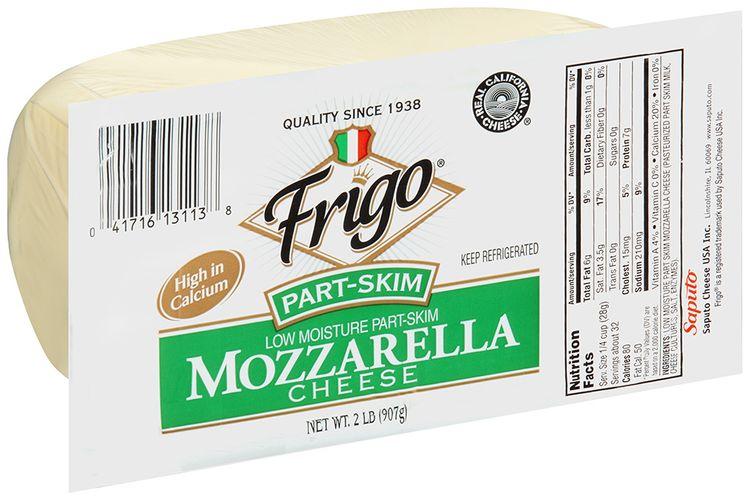 frigo® low moisture part skim mozzarella natural cheese